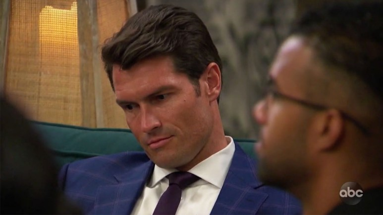 The Bachelorette Bennett looking defeated
