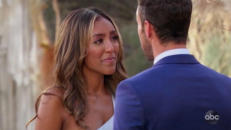 Tayshia Adams crying at Zac Clark's proposal