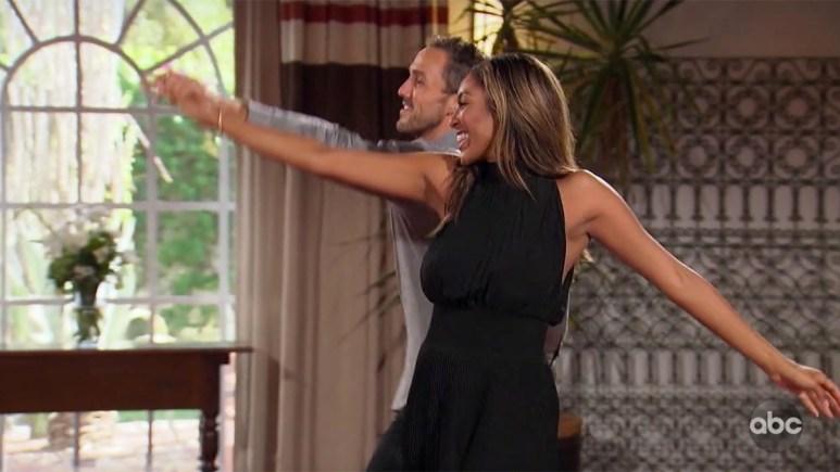 Tayshia and Zac Clark dancing