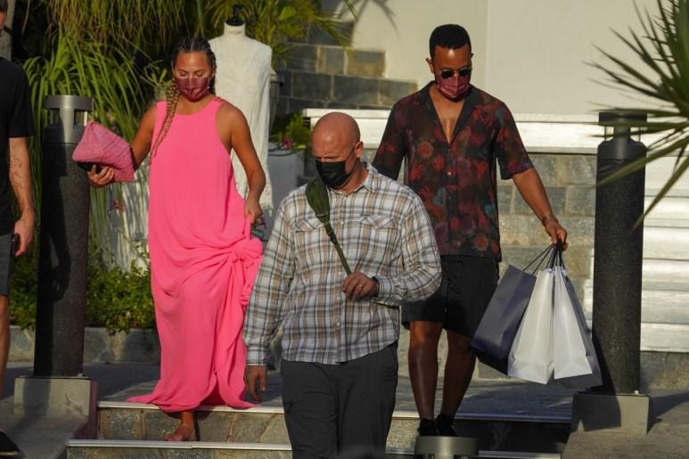 Chrissy Teigen and John Legend go shopping