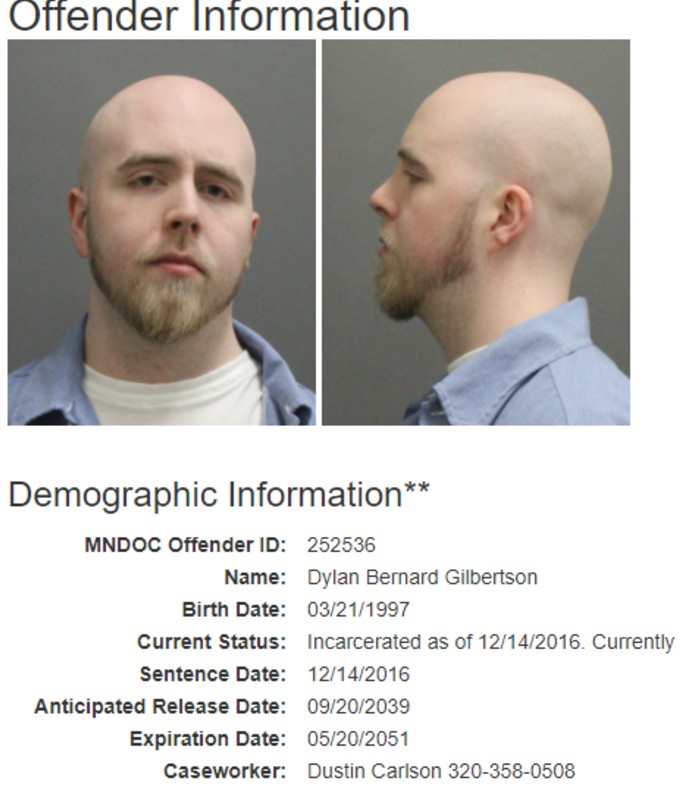 Gilbertson offender info