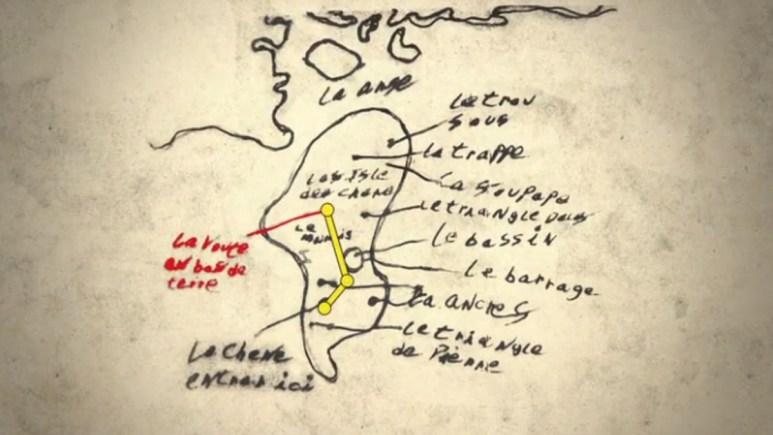 Old map of Oak Island