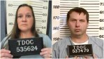Mugshots of Susan Baker and Thomas Bettis