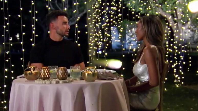 The Bachlorette Brendan talking to Tayshia