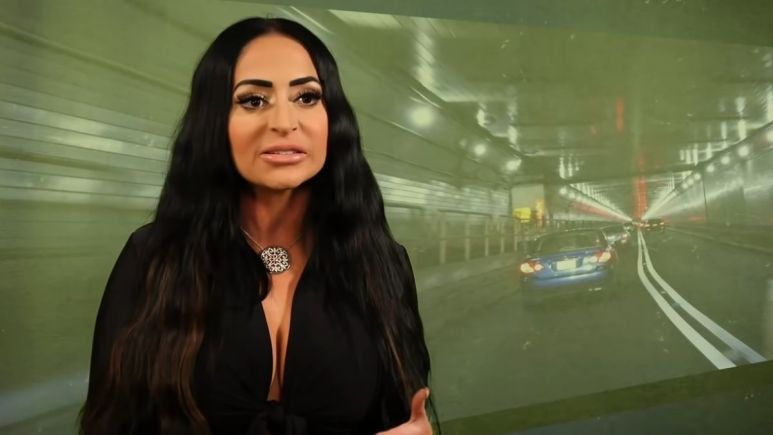 Angelina Pivarnick during an episode of Jersey Shore Family Vacation