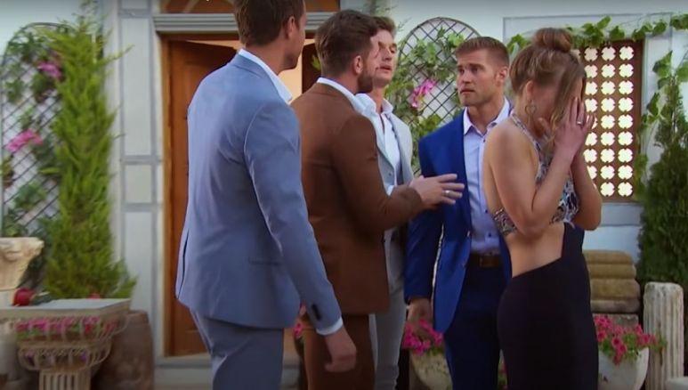 Luke Parker interrupts Hannah Brown's rose ceremony