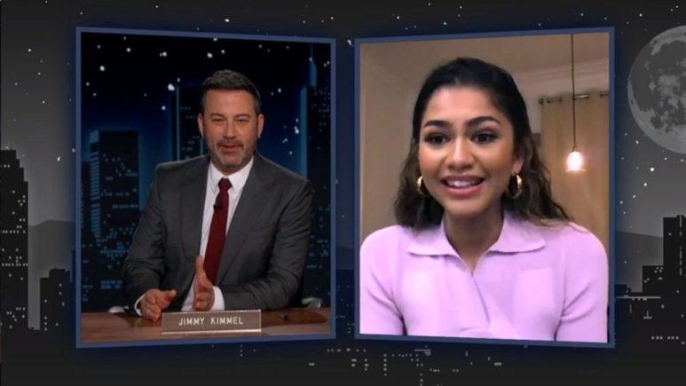 Zendaya talks Euphoria on Jimmy Kimmel Live