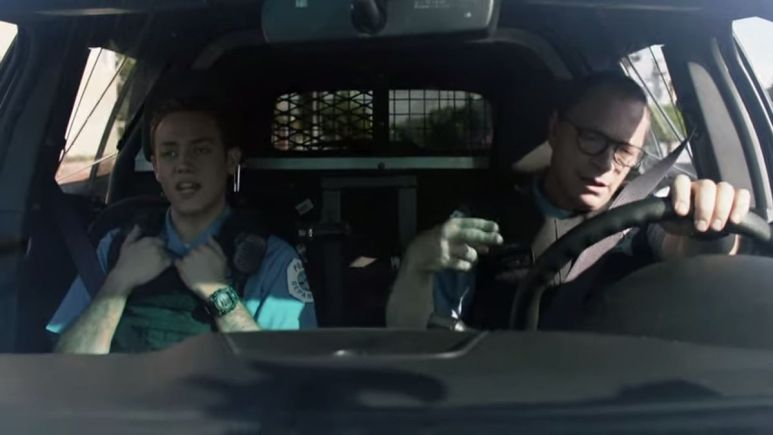 Carl becomes a cop on Shameless
