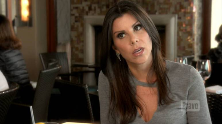 Heather Dubrow attends a lunch while filming for RHOC.