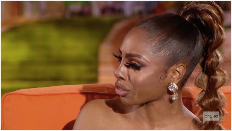 Candiace Dillard breaks down on The Real Housewives of Potomac part-two reunion.