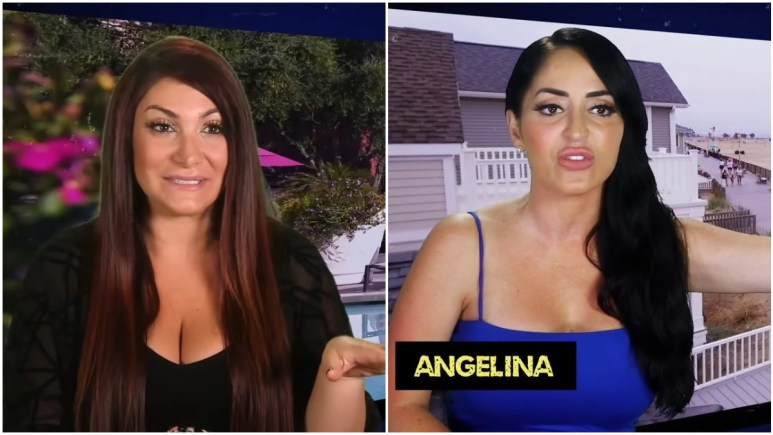 Deena Cortese and Angelina Pivarnick during an episode of Jersey Shore Family Vacation