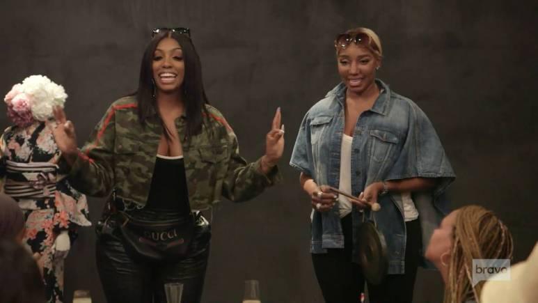 Porsha announces her pregnancy with Nene Leakes's help while filming RHOA.