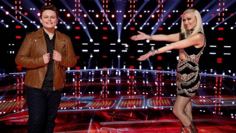 Carter Rubin and Gwen Stefani on The Voice