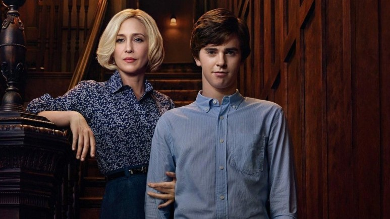 Norman and Norma Bates from the Bates Motel TV series