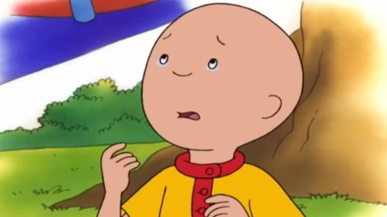 Caillou crying on the show