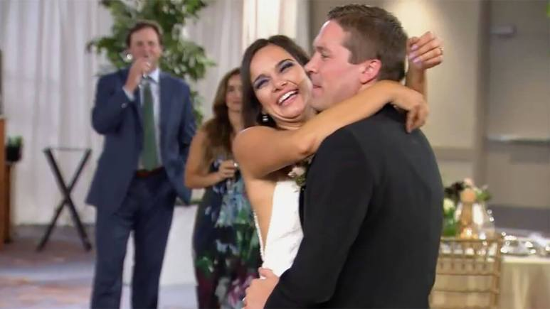 Married at First Sight Season 12 couple Erik and Virginia dancing on wedding