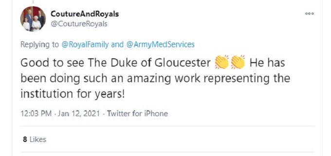 Tweet about Prince Richard