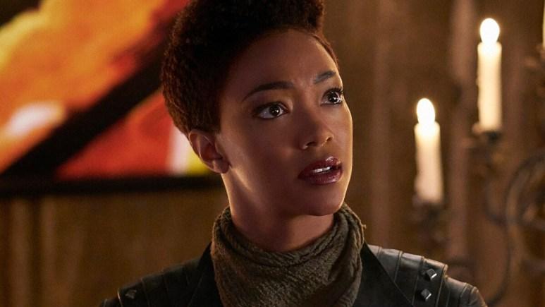 Sonequa Martin-Green plays Captain Michael Burnham on Star Trek Discovery