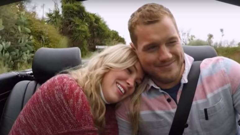 Colton Underwood and Cassie Randolph driving together