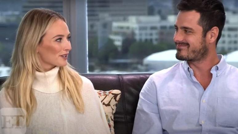 Ben Higgins and Lauren Bushnell are interviewed together