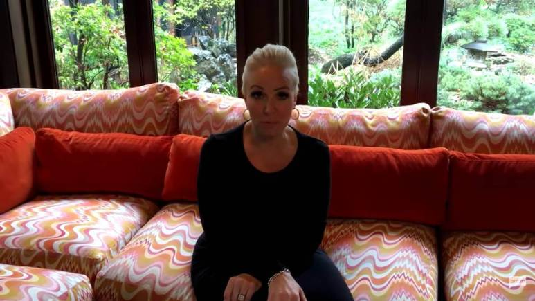 Margaret Josephs conducts an at-home interview for Bravo.