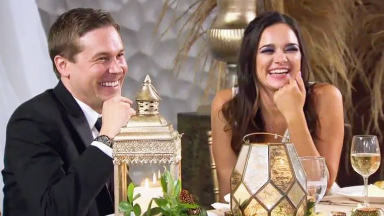 MAFS Season 12 couple Virignia and Erik Lake smiling on wedding