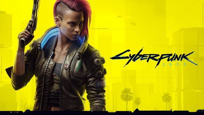 Key artwork for CD Projekt Red's Cyberpunk 2077