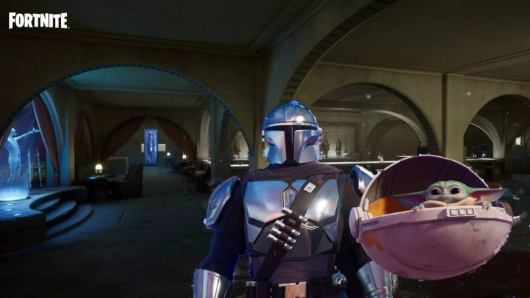 A new Fortnite update introduced a Mandalorian challenge.