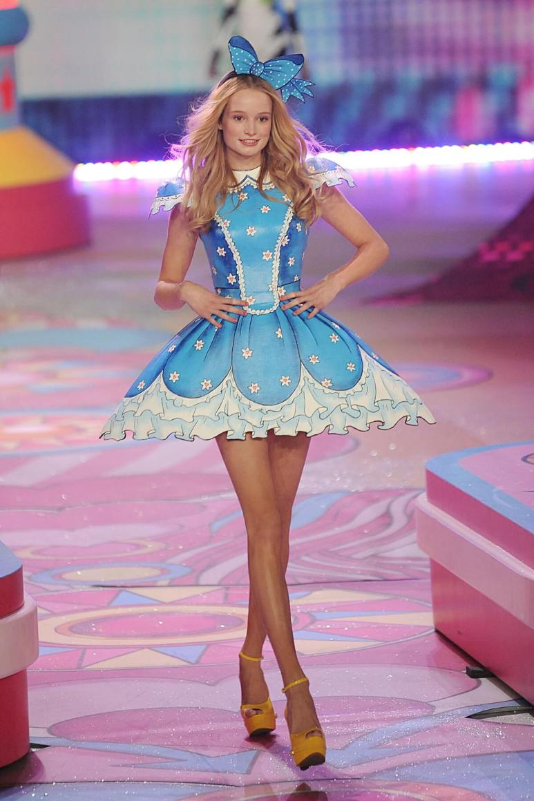 Frida Gustavsson walks the runway during the 2012 Victoria's Secret Fashion Show at the Lexington Avenue Armory on November 7, 2012, in New York City