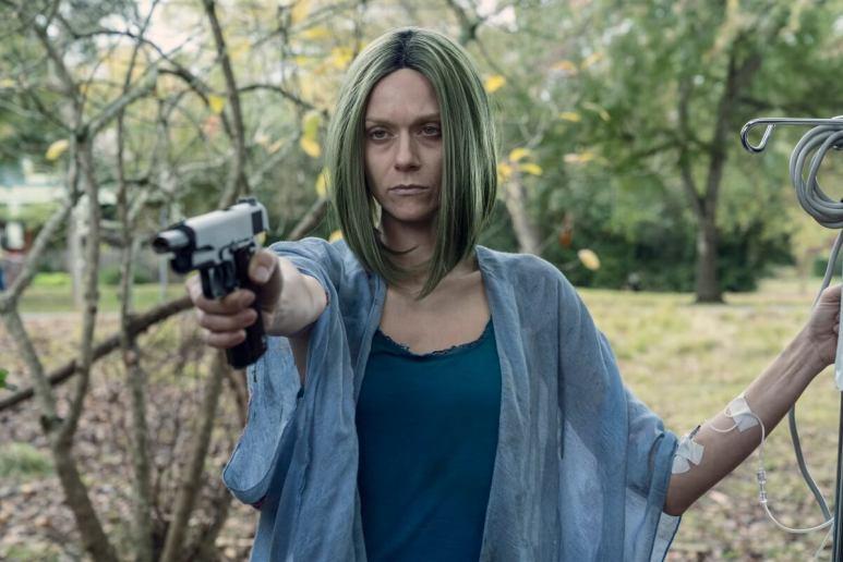 Hilarie Burton Morgan stars as Negan's wife, Lucille, in Season 10C of The Walking Dead