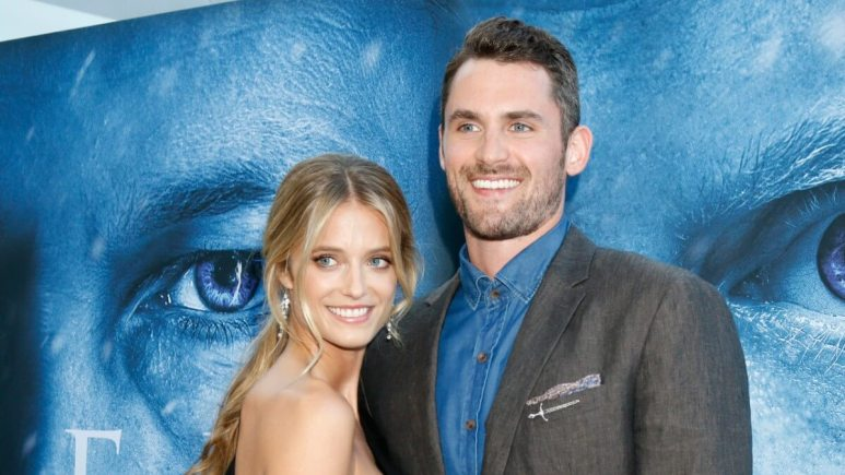 Kate Bock and Kevin Love on the red carpet