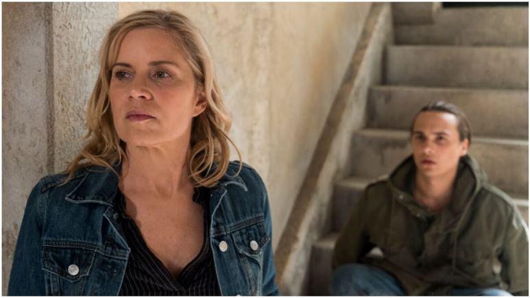 Kim Dickens as Madison Clark, Frank Dillane as Nick Clark, as seen in Season 3 of AMC's Fear the Walking Dead