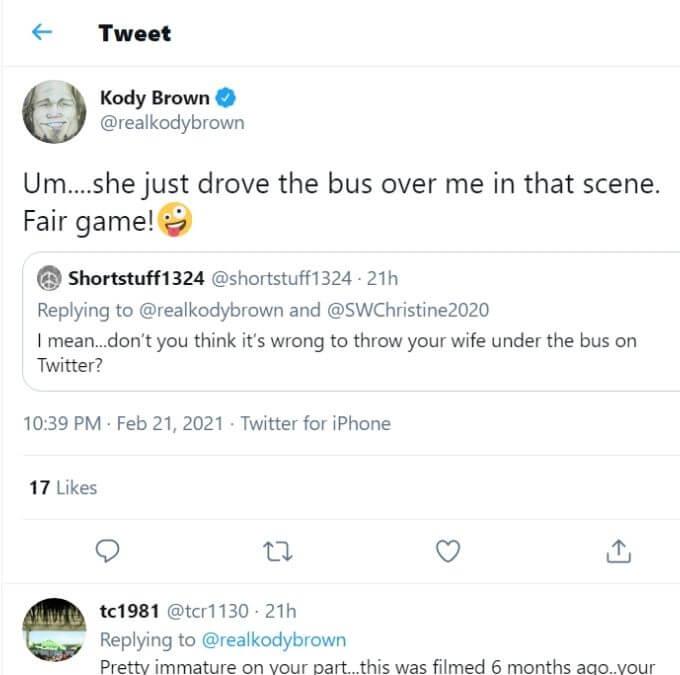Kody Brown on Twitter