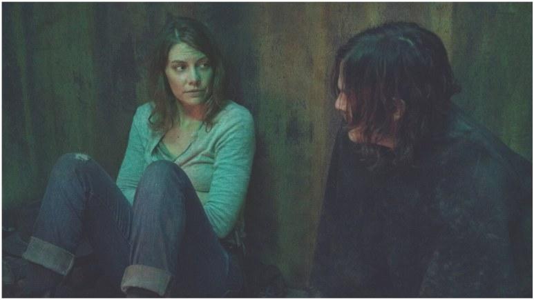 Lauren Cohan as Maggie Rhee and Norman Reedus as Daryl Dixon, as seen in Episode 17 of AMC's The Walking Dead Season 10C