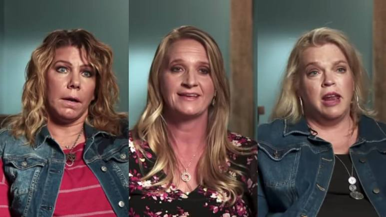 Meri, Christine, Janelle Brown in Sister Wives confessional.