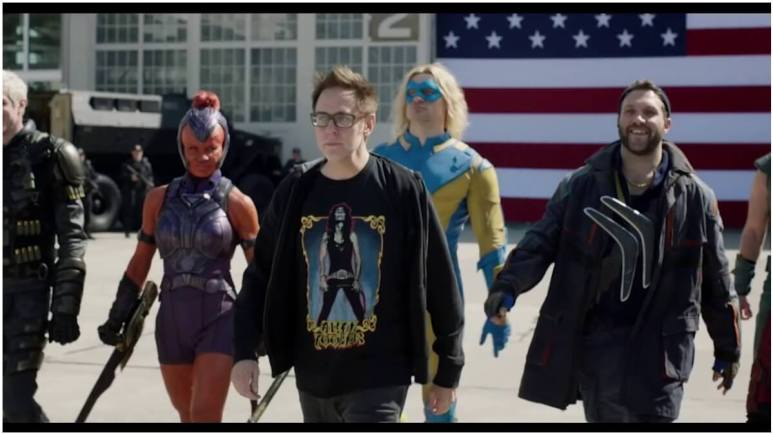 James Gunn and Suicide Squad cast