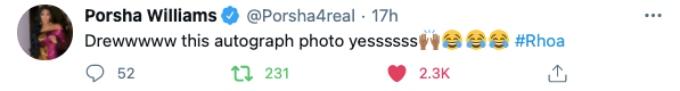 Porsha Williams comments of Drew Sidora's shade