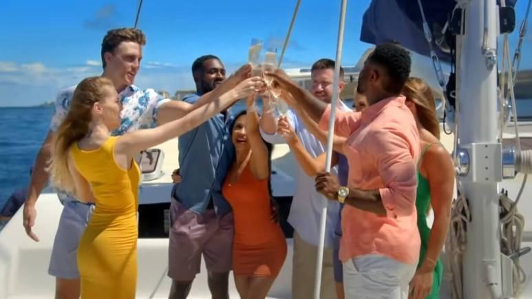 A scene from Season 1 of Temptation Island.