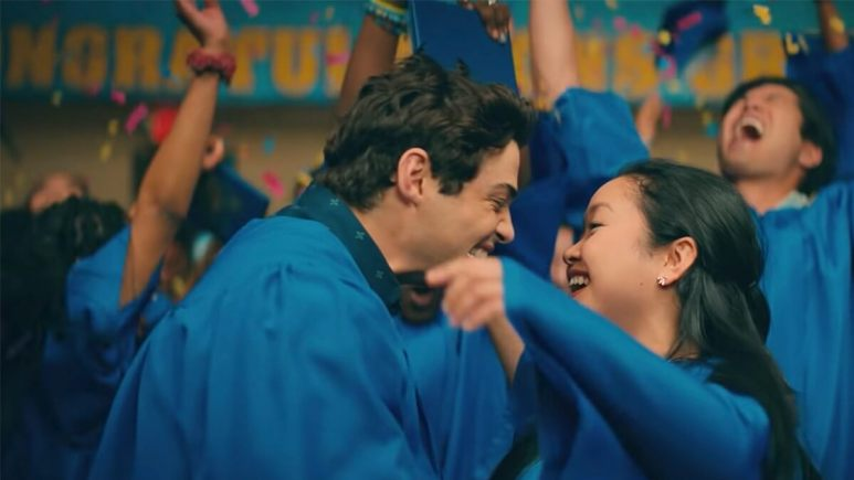 Image of Lara Jean and Peter from the To All the Boys: Always and Forever trailer.