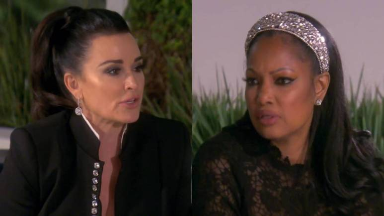 Kyle Richards and Garcelle Beauvais may be feuding while filming.