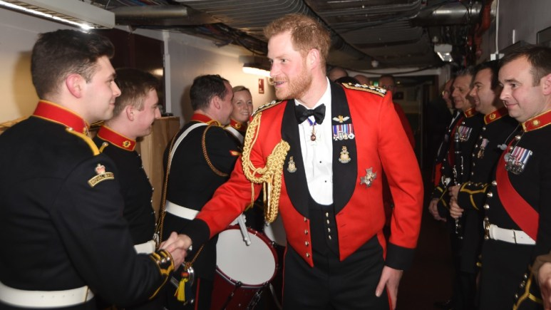 Prince Harry attends a royal function in military dress
