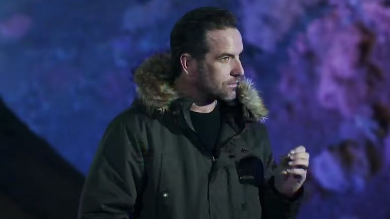 the challenge host tj lavin in double agents episode 11