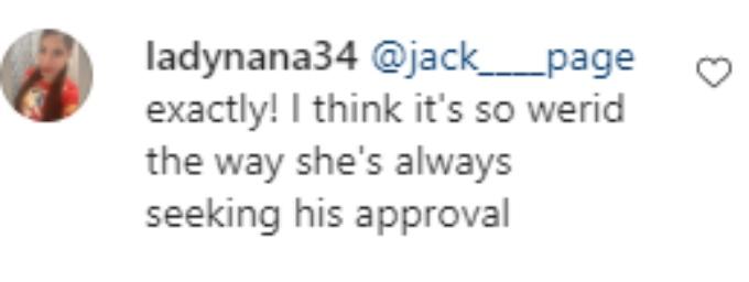 A fan doesn't think Cheyenne should need Cory's approval.
