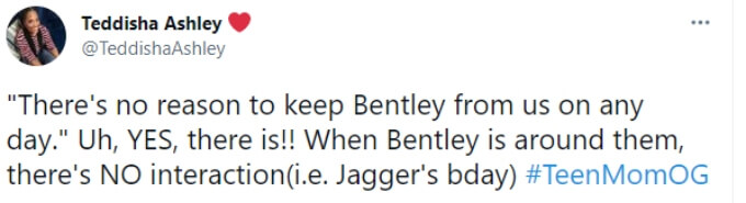 A fan points out that Ryan ignored Bentley at his brother's birthday party.