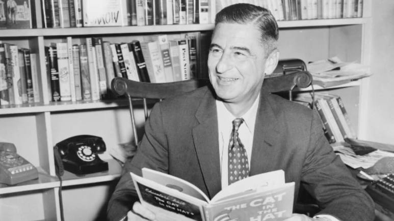 Dr Seuss reading one of his books