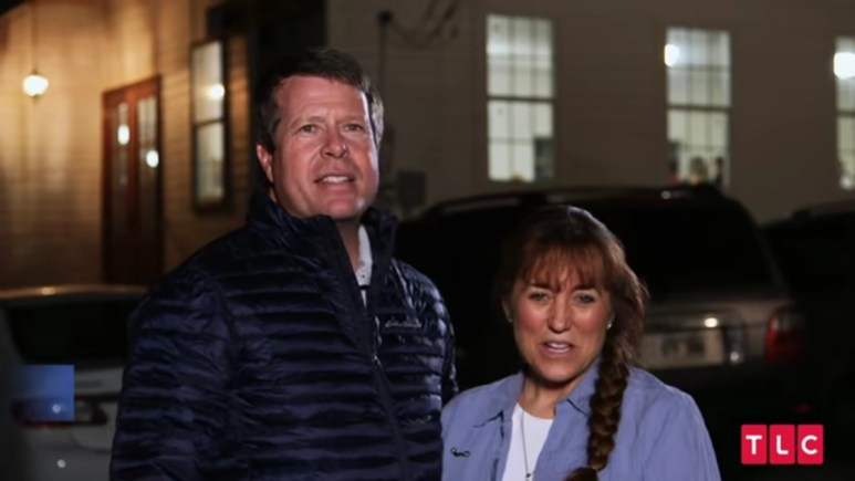 Jim Bob and Michelle Duggar in a Counting On scene.