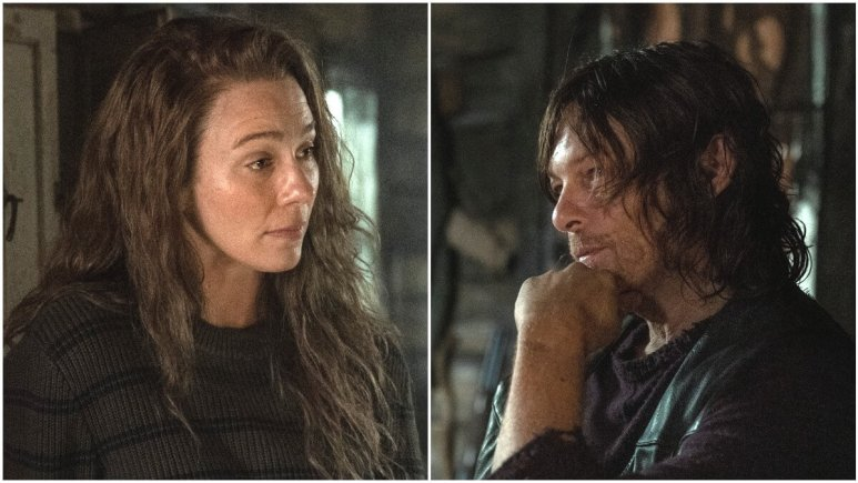 Lynn Collins as Leah and Norman Reedus as Daryl Dixon, as seen in Episode 18 of AMC's The Walking Dead