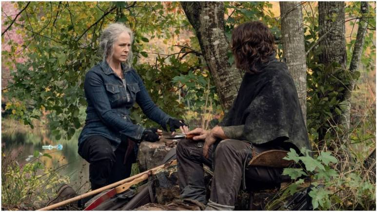 Melissa McBride as Carol Peletier and Norman Reedus as Daryl Dixon, as seen in Episode 18 of AMC's The Walking Dead Season 10C