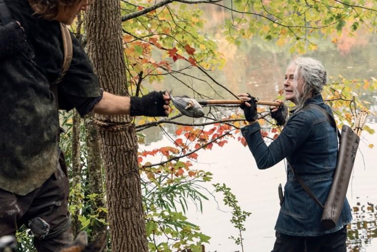 Norman Reedus as Daryl Dixon and Melissa McBride as Carol Peletier, as seen in Episode 18 of AMC's The Walking Dead Season 10C