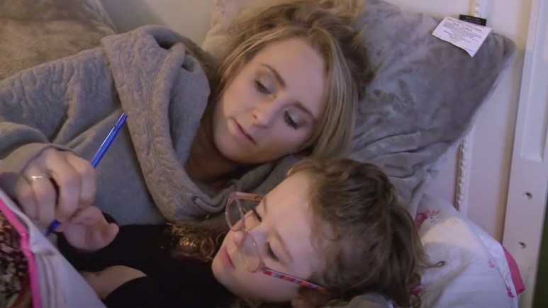 Leah Messer explaining muscular dystrophy to her daughter Ali.